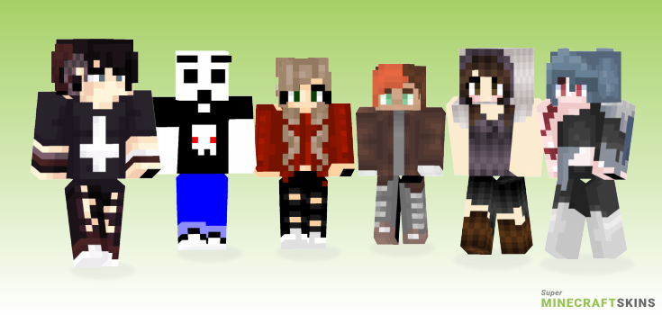Edgy Minecraft Skins - Best Free Minecraft skins for Girls and Boys
