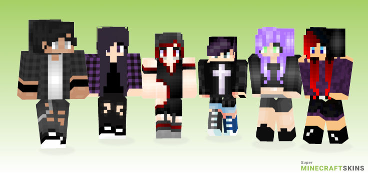 Emo Minecraft Skins - Best Free Minecraft skins for Girls and Boys