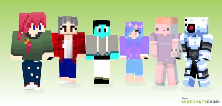 Experiment Minecraft Skins - Best Free Minecraft skins for Girls and Boys