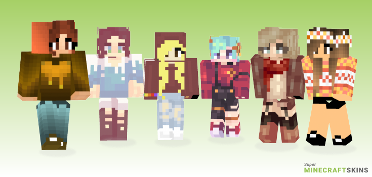 Fall Minecraft Skins - Best Free Minecraft skins for Girls and Boys