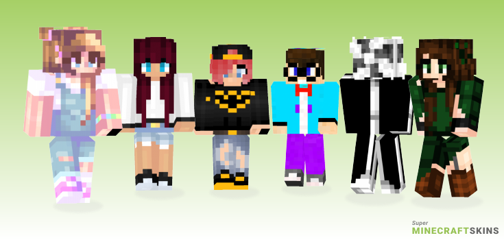Fan Minecraft Skins - Best Free Minecraft skins for Girls and Boys