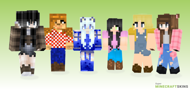 Farm girl Minecraft Skins - Best Free Minecraft skins for Girls and Boys
