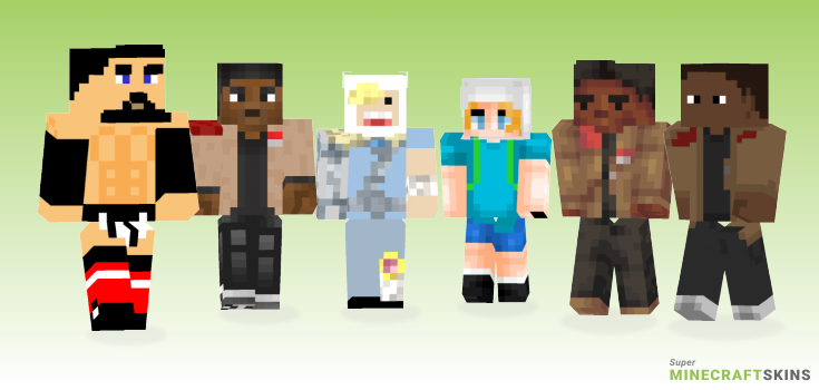 Finn Minecraft Skins - Best Free Minecraft skins for Girls and Boys