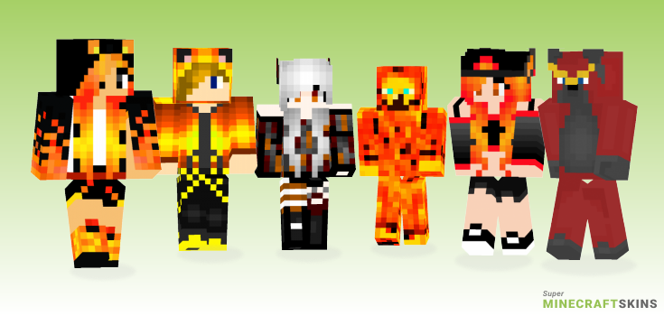 Fire wolf Minecraft Skins  Download for free at