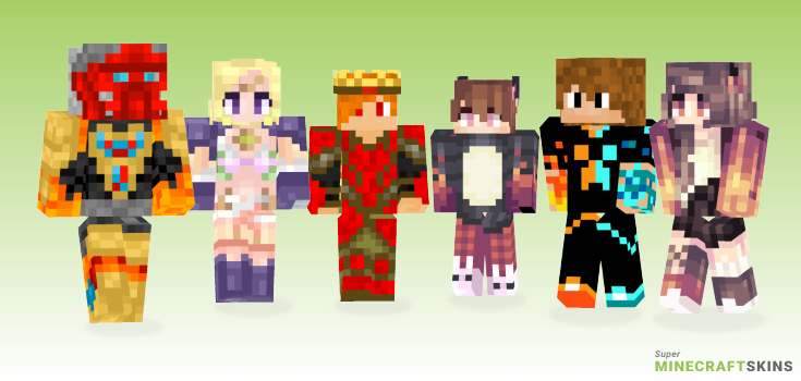 Fire Minecraft Skins - Best Free Minecraft skins for Girls and Boys