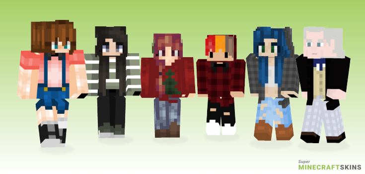 First Minecraft Skins - Best Free Minecraft skins for Girls and Boys