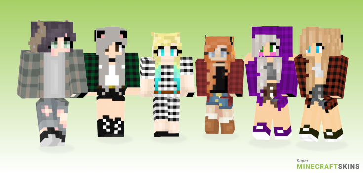 Flannel Minecraft Skins - Best Free Minecraft skins for Girls and Boys