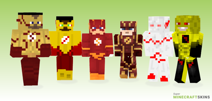Flash Minecraft Skins - Best Free Minecraft skins for Girls and Boys