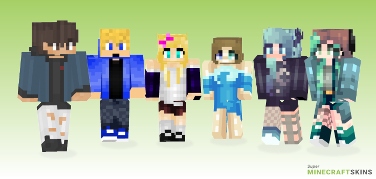 Flow Minecraft Skins - Best Free Minecraft skins for Girls and Boys