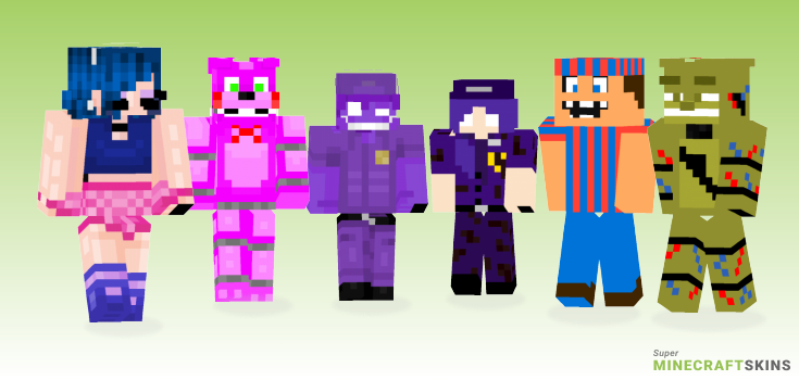Fnaf Minecraft Skins - Best Free Minecraft skins for Girls and Boys