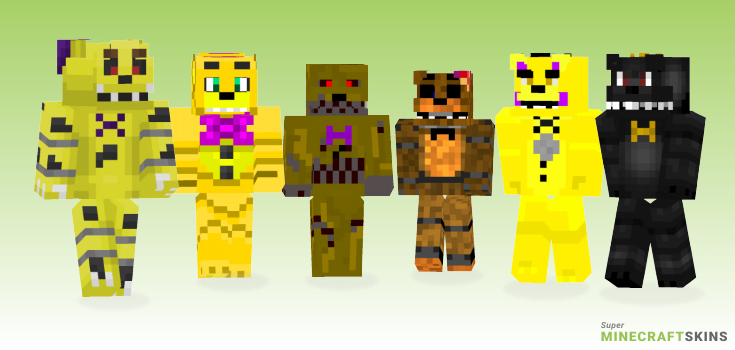 Fredbear Minecraft Skins - Best Free Minecraft skins for Girls and Boys