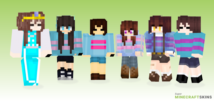 Frisk Minecraft Skins - Best Free Minecraft skins for Girls and Boys