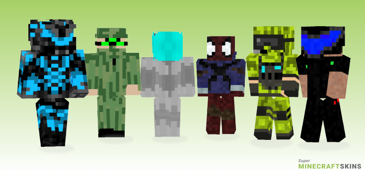 Futuristic Minecraft Skins - Best Free Minecraft skins for Girls and Boys