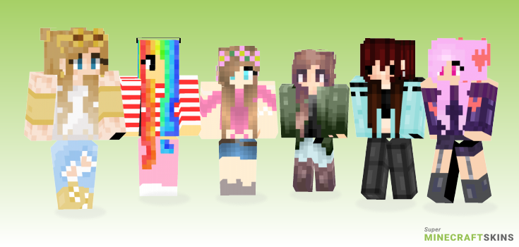 Gal Minecraft Skins - Best Free Minecraft skins for Girls and Boys