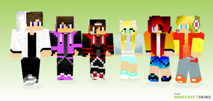 Gaming Minecraft Skins - Best Free Minecraft skins for Girls and Boys