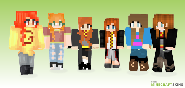 Ginny Minecraft Skins - Best Free Minecraft skins for Girls and Boys