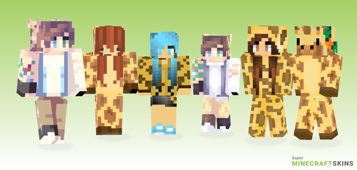Giraffe Minecraft Skins - Best Free Minecraft skins for Girls and Boys