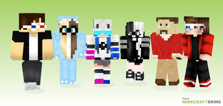 Glasses Minecraft Skins - Best Free Minecraft skins for Girls and Boys