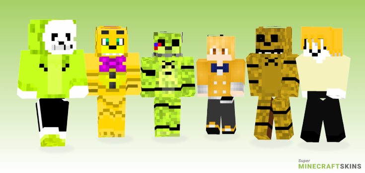 Golden freddy Minecraft Skins  Download for free at