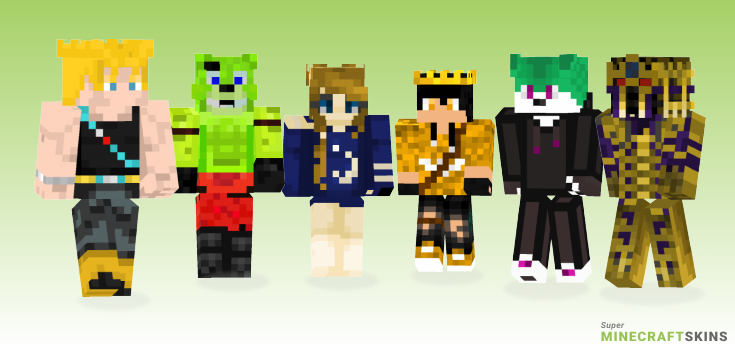 Golden Minecraft Skins - Best Free Minecraft skins for Girls and Boys