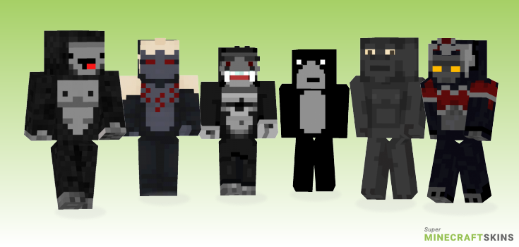 Gorilla Minecraft Skins - Best Free Minecraft skins for Girls and Boys