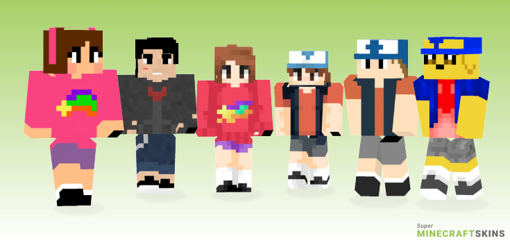 Gravity Minecraft Skins - Best Free Minecraft skins for Girls and Boys