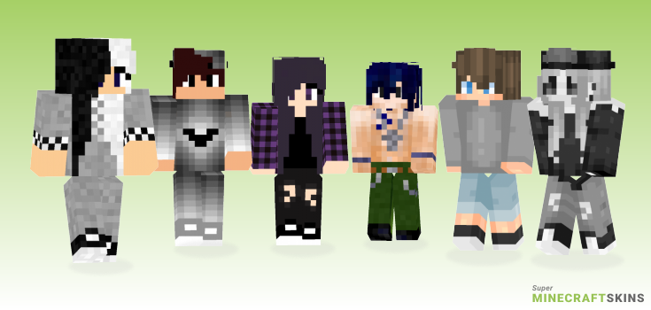 Gray Minecraft Skins - Best Free Minecraft skins for Girls and Boys