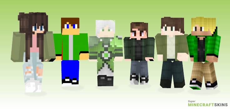 Green jacket Minecraft Skins - Best Free Minecraft skins for Girls and Boys