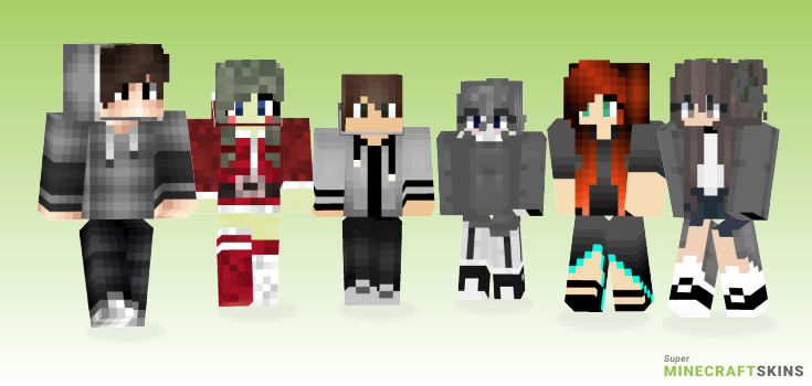 Grey Minecraft Skins - Best Free Minecraft skins for Girls and Boys