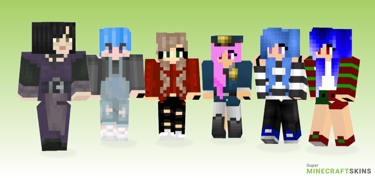 Haired Minecraft Skins - Best Free Minecraft skins for Girls and Boys
