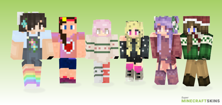 Happy Minecraft Skins - Best Free Minecraft skins for Girls and Boys