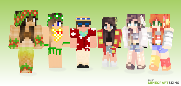 Hawaiian Minecraft Skins - Best Free Minecraft skins for Girls and Boys
