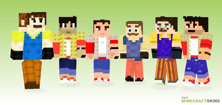 Hello Neighbor Minecraft Skins Download For Free At Superminecraftskins