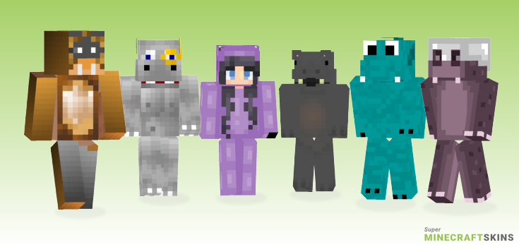 Hippo Minecraft Skins - Best Free Minecraft skins for Girls and Boys
