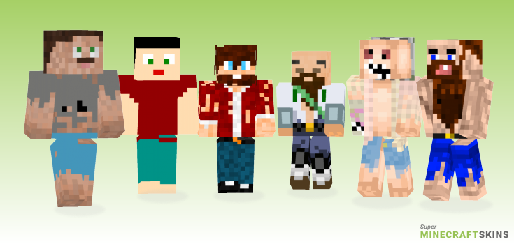 Hobo Minecraft Skins - Best Free Minecraft skins for Girls and Boys
