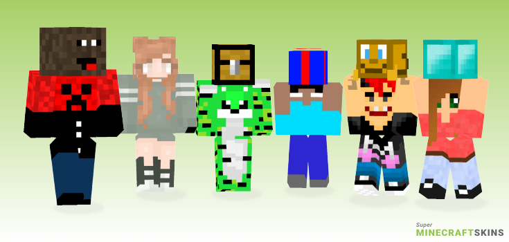 Holding Minecraft Skins - Best Free Minecraft skins for Girls and Boys