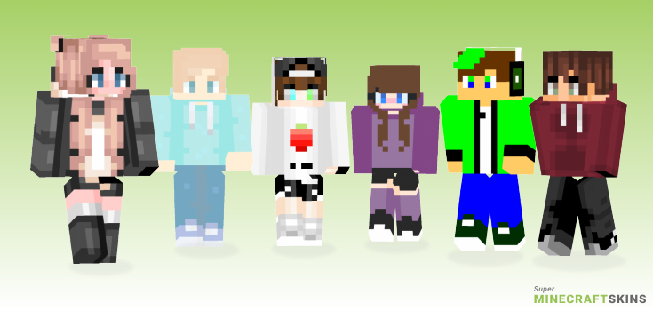 Hoodies Minecraft Skins - Best Free Minecraft skins for Girls and Boys