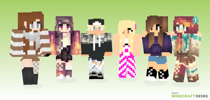 Hot Minecraft Skins - Best Free Minecraft skins for Girls and Boys
