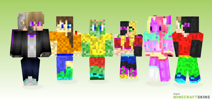 Hybrid Minecraft Skins - Best Free Minecraft skins for Girls and Boys