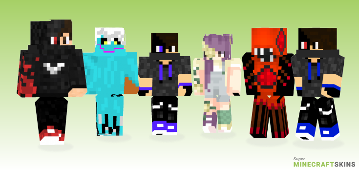 Infected Minecraft Skins - Best Free Minecraft skins for Girls and Boys