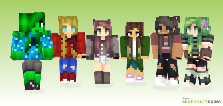 Jade Minecraft Skins - Best Free Minecraft skins for Girls and Boys