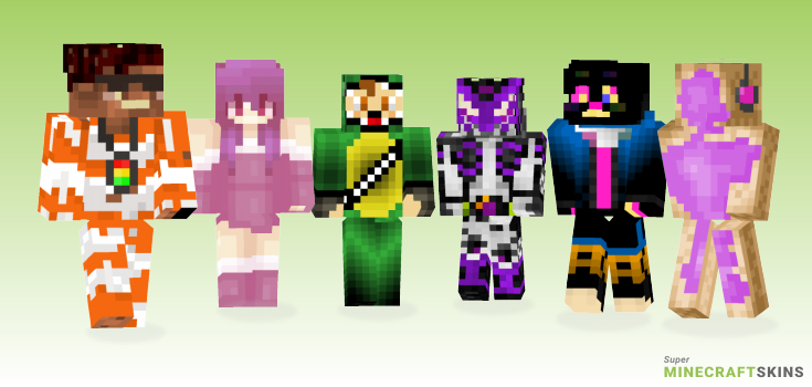 Jam Minecraft Skins - Best Free Minecraft skins for Girls and Boys