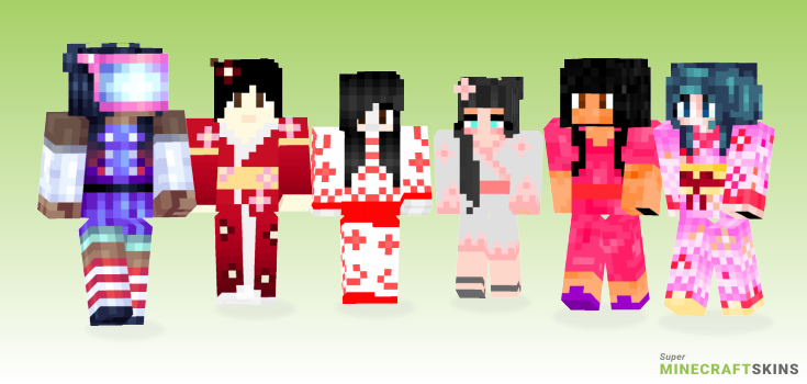 Japanese girl Minecraft Skins - Best Free Minecraft skins for Girls and Boys