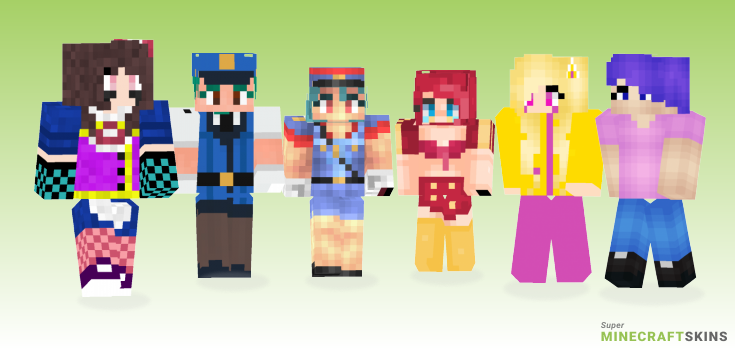 Jenny Minecraft Skins - Best Free Minecraft skins for Girls and Boys