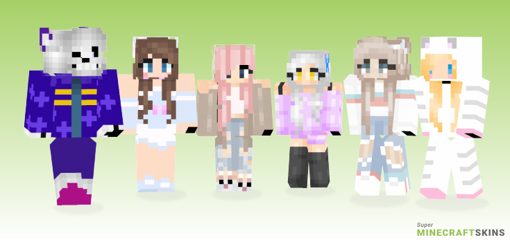 Kawaii Minecraft Skins - Best Free Minecraft skins for Girls and Boys