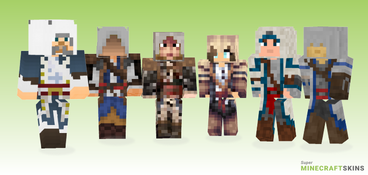 Kenway Minecraft Skins - Best Free Minecraft skins for Girls and Boys