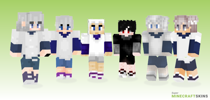 Killua Minecraft Skins - Best Free Minecraft skins for Girls and Boys