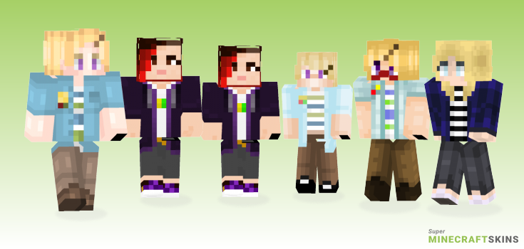 Kim Minecraft Skins - Best Free Minecraft skins for Girls and Boys