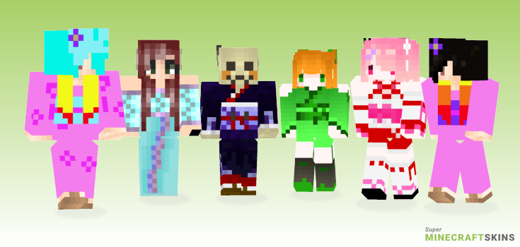 Kimono Minecraft Skins - Best Free Minecraft skins for Girls and Boys