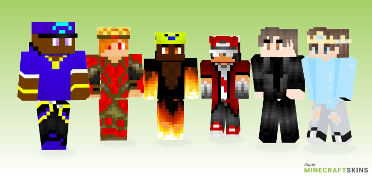 King Minecraft Skins - Best Free Minecraft skins for Girls and Boys